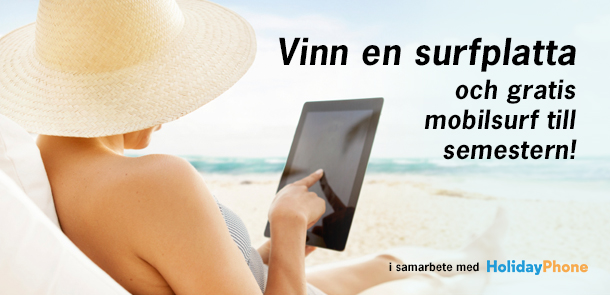 Vinn en surfplatta med Holidayphone
